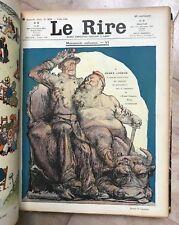 CAPPIELLO, FAIVRE.LE RIRE ANNEE COMPLETE 1908 HUMORISTIQUE NBREUSES CARICATURES