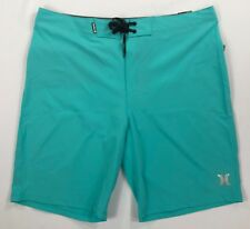 Hurley Phantom Swim Trunks Aqua Shorts 20 Length Mens Size 36 889294676210