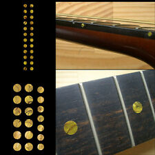 Fret Markers Inlay Sticker Decal Guitar & Bass Neck - Custom Dot SET Ocher Gold