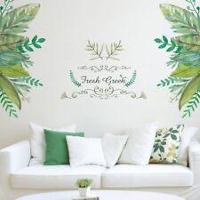 Fresh Green Background Home Mural Door Decal Room Wall Art Decor Wall Sticker