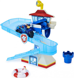 PAW Patrol Adventure Bay Bath Playset with Light-up Chase Vehicle, Toy...