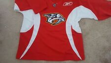Vintage Nashville Predators Reebok Hockey Jersey Top Shirt Authentique Officiel