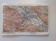 Dresden, Germany, 1913 Antique Street Map, Original Wagner & Debes, Atlas