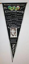 1956 Collingwood Melbourne Olympics Finalists Magpies Souvenir Flag Mann Photo