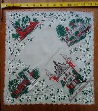 Colonial Williamsburg Vintage Handkerchief, William and Mary College