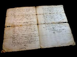 ANTIQUE  DOCUMENT 1657     4 pages