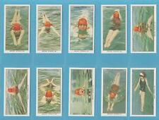 More details for ogden`s cigarette cards - swimming, diving and life saving - full mint set
