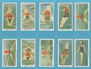 Ogden`s Cigarette Cards - SWIMMING, DIVING AND LIFE SAVING - Full mint set
