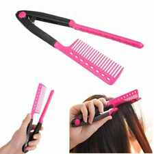 Magic Hair Straightener Comb V Type DIY Salon Hairdressing Styling Hair Comb