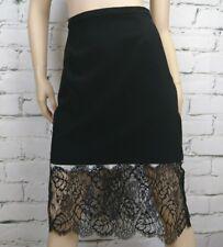 Charlie Brown Skirt Black Peekaboo Slip Lace Hem Size 12