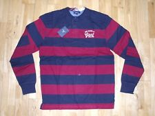 gant pour Garçons E.barstripe RAYURE Henley lourd rugby polo manches longues