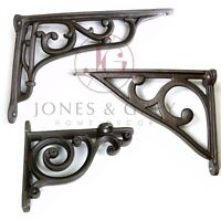 VINTAGE VICTORIAN PERIOD OLD ANTIQUE STYLE METAL CAST IRON SHELF WALL BRACKETS