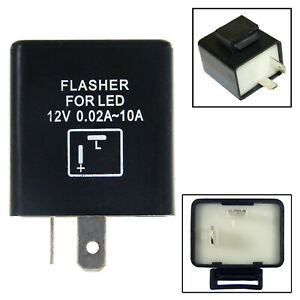 1pc 2-Pin Electronic LED Flasher Relay Fix For Turn Signal Light Hyper Flasher