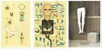 Doll and Mannequin Collage Art by Malcolm Tarlofsky Lot of 3 Art Postcards