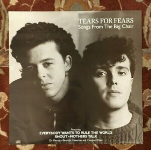 TEARS FOR FEARS  Songs From The Big Chair  rare original promotional poster