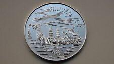 1988 Vietnam 100 Dong Dragon Boat BU Silver coin
