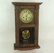 Alte Wanduhr Pendeluhr Regulator Uhr mit Gong Uhrwerk H. & B.