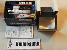 Sega Wide Gear w/ Box & Manual For Game Gear System NO BASE CONNECTOR