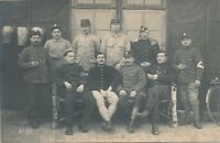 Ten Soldiers and Bicycle Real Photo Postcard rppc