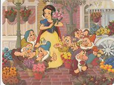 Snow White 7 dwarfs Disneyland 1979 17cm x 13cm official postcard unused scarce