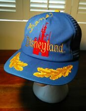 Vintage 80's Disneyland Trucker Hat Dad Hat Blue Red Gold