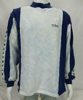 Izod Lacoste Long Sleeve Shirt Blue/White/Green Men's Large