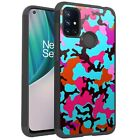 MetKase Hybrid Slim Phone Case Cover For OnePlus Nord N10 5G - TEAL STYLISH CAMO