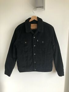 Levi's - Black Corduroy Sherpa Jacket - Medium