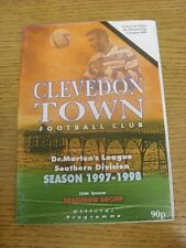 07/10/1997 Clevedon Town v Cirencester Town [Dr Martens League Cup] .  Thanks fo