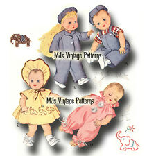 "Vintage 15"" 16"" Baby Doll Clothes Pattern~ Sparkle Plenty, Dy Dee, Tiny Tears"