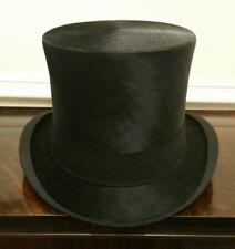 EU 60.5cm XXL Very Rare Hope Brothers Vintage Silk Black Top Hat,UK 7 3/8 to 1/2