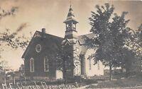 D71/ Donnellson Iowa Ia Real Photo RPPC Postcard c1910 M.E. Church Building