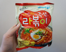 Korean Instant Topokki Taste Noodle PALDO RAPOKKI 2pack, Hot Spicy Ramen