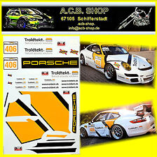 PORSCHE 911 GT3 équipe troldtekt #406 C.bjerglund 1:24 autocollant décalcomanie