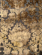 Taupe Imperial Sheer Cut Velvet By the yard
