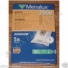 Bosch Early Model Compatible Duraflow Vacuum Cleaner Bags - Menalux Part # 2000