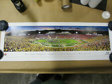 LaMichael James signed huge Rose Bowl Panoramic with Inscription proof PSA/DNA