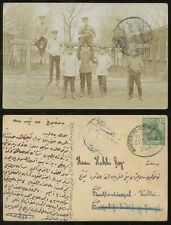 GERMANY MILITARY in TURKEY 1912 MAGDEBURG RAILWAY TPO...PPC written in Turkish