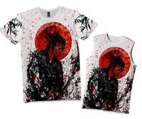 NEW MENS JAPAN SAMURAI RONIN T-SHIRT VINTAGE PRINT TEE UK FIT&SIZE UP TO 6XL