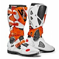 Sidi Crossfire 3 White Orange MX Motocross Motorcycle Boots