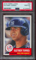 GLEYBER TORRES 2018 Topps Living Set Rookie RC #34 - PSA 10 GEM MINT