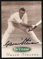 1996 Futera Gavin Stevens Signature Heritage Collection Cricket Card no. 29