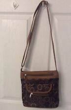 Messenger Crossbody Bag Very Adjustable Strap Shades Of Brown NEW