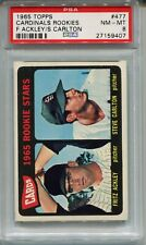 1965 Topps Baseball #477 Steve Carlton Rookie Card RC PSA 8