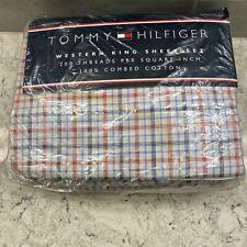 Vintage Tommy Hilfiger Western King Plaid sheet set good condition