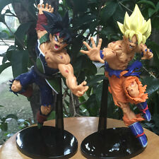 Dragon Ball Pack 2 Action Figure Goku Bardock Model Toy 22-23cm