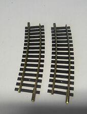 F36) 2 rails laiton courts courbes 1701/ FLEISCHMANN R= 415 train electrique HO