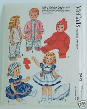 "Tiny Tears Betsy Westy McCalls Doll Pattern Baby Dolls 15"" - 17"" Doll #2412"