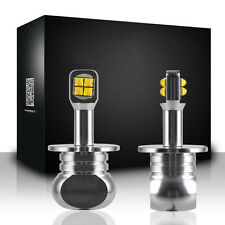 2X H3 80W 6000K White CREE Fog Driving DRL Headlight Head High Power LED Light