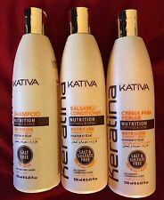 SET Of 3 Kativa Keratin 1Shampoo 1Conditioner 1Crema Para Peinar 250ml Each